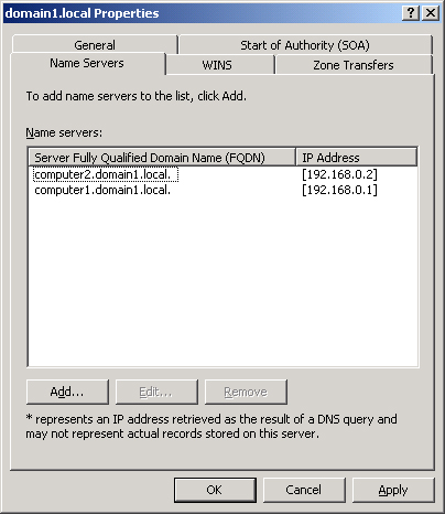 Windows Server 2003 : Configuring Zone Properties and Transfers