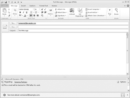 Microsoft Dynamics CRM 2011 : Sending and Tracking Email Messages in ...