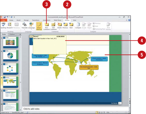microsoft powerpoint 2010 adding comments to a