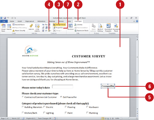 Microsoft word 2010 expanding word functionality inserting insert activex controls ccuart Gallery