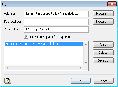 in the description text box type hr policy manual - Microsoft Visio Manual