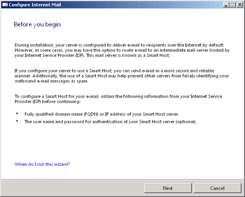 Configuring Email Settings in Windows Small Business Server 2011