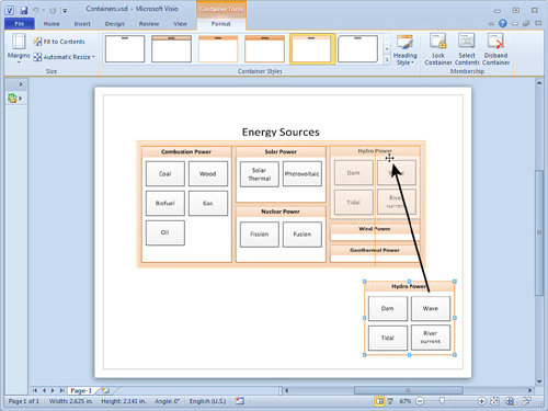 microsoft visio 2010 containers and lists part 1 containers