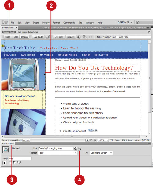Dreamweaver CS5 : Working with Multimedia and Online Tools