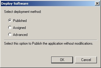 The Deploy Software dialog box