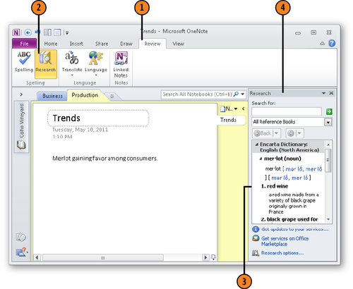 Conducting Research in OneNote 2010 : Handling the Research Task