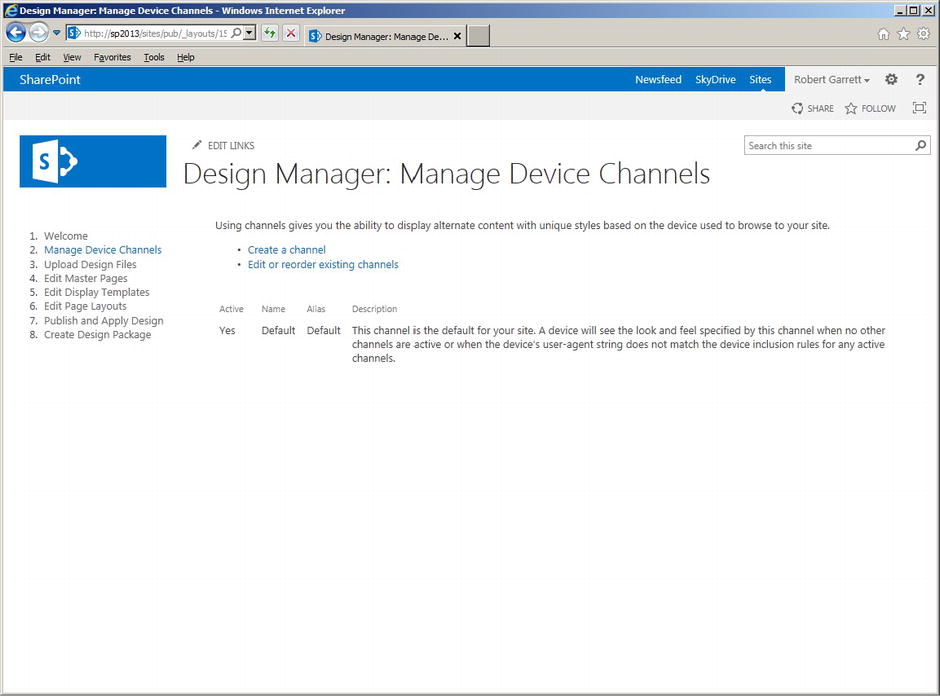 Sharepoint 2013 : Branding with the Design Manager (part 1 ...