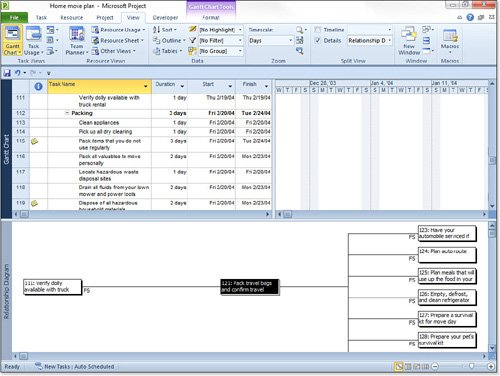 Microsoft Project 2010 : Linking Tasks (part 8) - Auditing