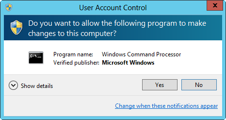 User Account Control prompts users when they are already logged on to an administrator account.