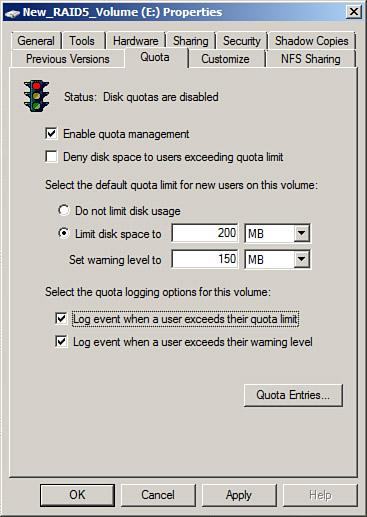 windows server 2008 r2  volumebased ntfs quota